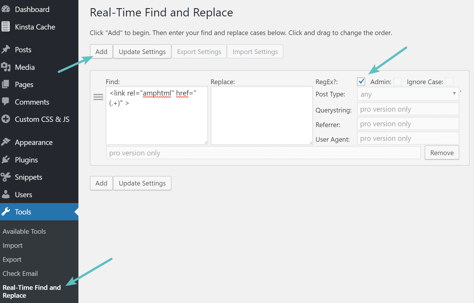 real time find and replace wordpress plugin